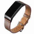 Fitbit Charge 3 Leather Strap with Connectors - Coffee