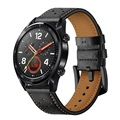 Huawei Watch GT Perforated Genuine Leather Strap - Black