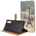 Huawei P20 Glam Wallet Case - Eiffel Tower