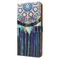 Sony Xperia XZ1 Glam Series Wallet Case - Dreamcatcher Painting