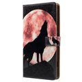 Sony Xperia XZ1 Glam Series Wallet Case - Wolf