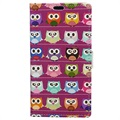 Huawei Honor 9 Glam Wallet Case - Baby Owls / Purple