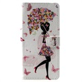 Glam Series Samsung Galaxy S10 Wallet Case - Girl / Flowers