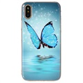 iPhone X Glow in the Dark TPU Cover - Blue Butterfly