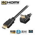Goobay High Speed HDMI Cable with Ethernet - 90° Rotated