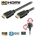 Goobay High Speed HDMI Cable with Ethernet - Rotatable - 2m