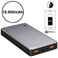 Goobay Quick Charge Power Bank - Dual USB, Type-C - 15000mAh