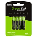 Green Cell HR03 Rechargeable AAA Batteries - 950mAh - 1x4