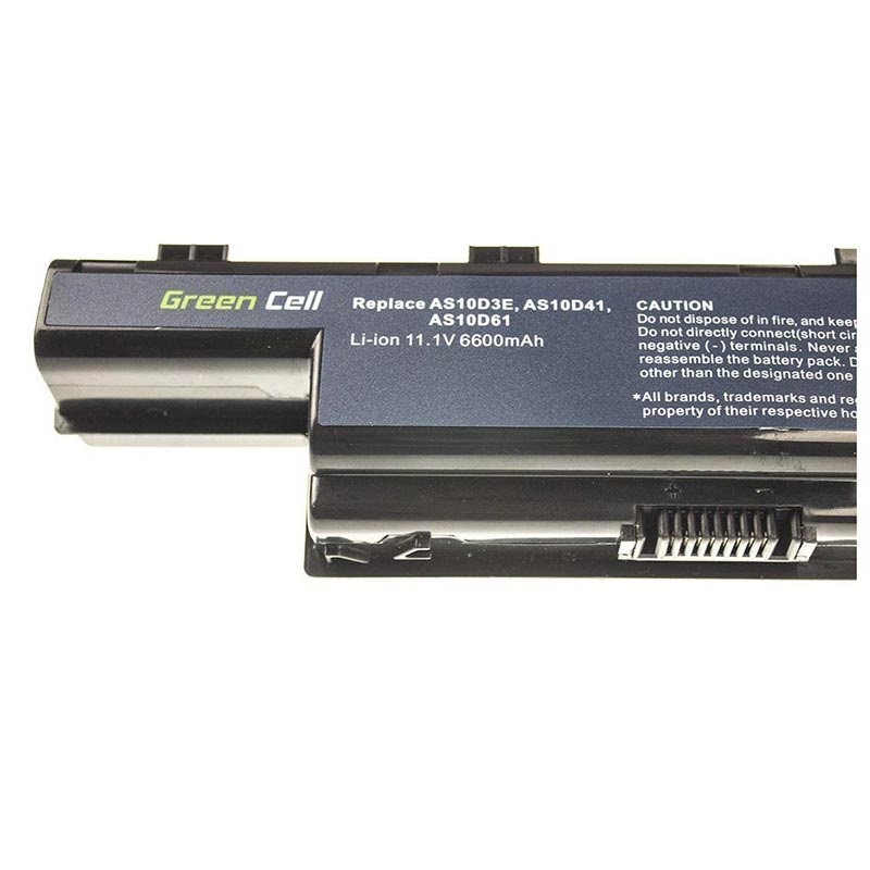 Green Cell Battery - Acer Aspire, TravelMate, eMachines, P.Bell EasyNote - 6600mAh