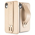 Guess Saffiano Strap iPhone XR Case - Beige