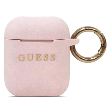 Guess AirPods / AirPods 2 Silicone Case - Pink