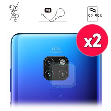Hat Prince Huawei Mate 20 Camera Lens Tempered Glass Protector - 2 Pcs.