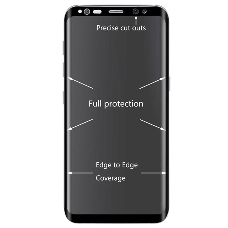 Samsung Galaxy S8 Hat Prince Curved Tempered Glass Screen Protector