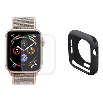 Hat Prince Apple Watch Series 5/4 Full Protection Set - 44mm - Black