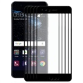 Huawei P10 Hat Prince Full Size Tempered Glass Screen Protector - 5 Pcs. - Black