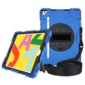 iPad 10.2 Heavy Duty 360 Case with Hand Strap - Blue / Black