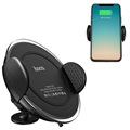 Hoco CW4 Fast Qi Wireless Car Charger / Car Holder - Black