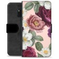 Huawei Mate 20 Pro Premium Wallet Case - Romantic Flowers