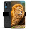 Huawei P20 Premium Wallet Case - Lion