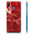 Huawei P20 Lite Hybrid Case - Red Marble