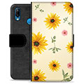 Huawei P20 Lite Premium Wallet Case - Sunflower