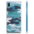 Huawei P20 Lite Hybrid Case - Blue Camouflage