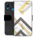 Huawei P20 Lite Premium Wallet Case - Abstract Marble
