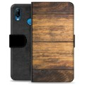 Huawei P20 Lite Premium Wallet Case - Wood