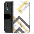 Huawei P20 Premium Wallet Case - Abstract Marble