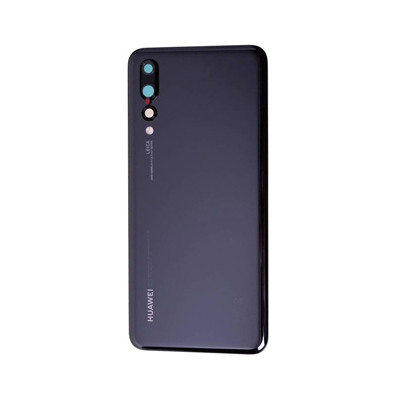 Black alsatek Replacement Back Cover for Huawei P20 Pro