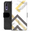Huawei P20 Pro Premium Wallet Case - Abstract Marble