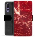 Huawei P20 Pro Premium Wallet Case - Red Marble