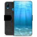Huawei P20 Lite Premium Wallet Case - Sea