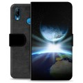 Huawei P20 Lite Premium Wallet Case - Space
