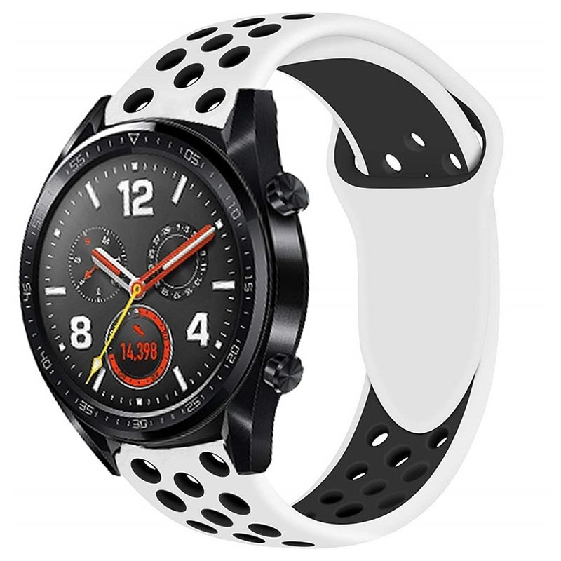 Huawei Watch GT Silicone Sport Band - White / Black