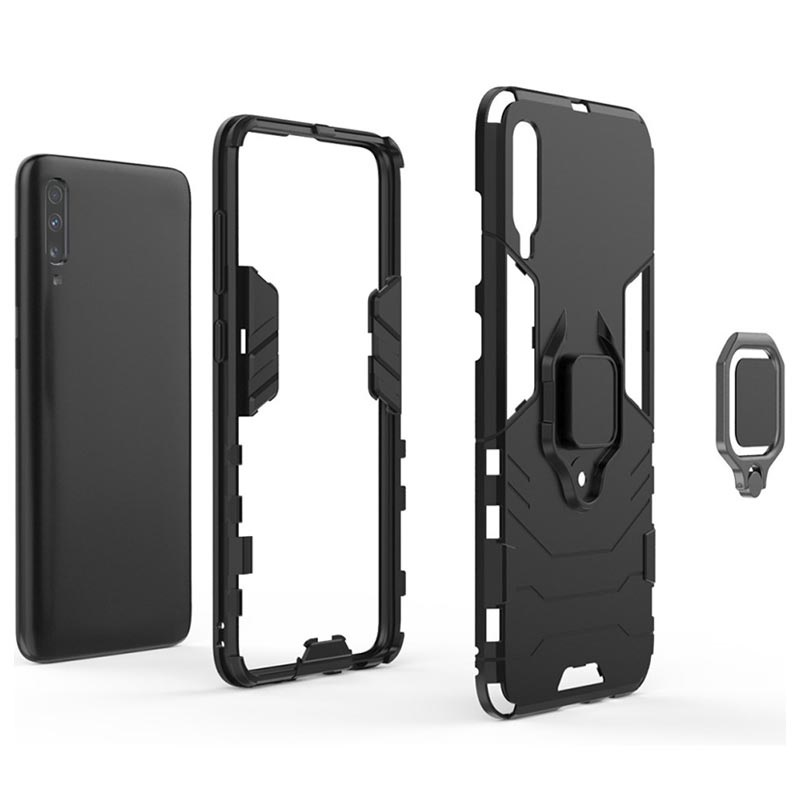 Samsung Galaxy A70 Hybrid Case with Ring Holder