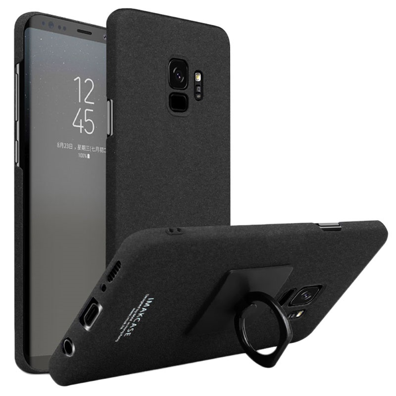 release date: bea73 5bd63 Samsung Galaxy S9 Imak Cowboy Ring Cover with Screen Protector