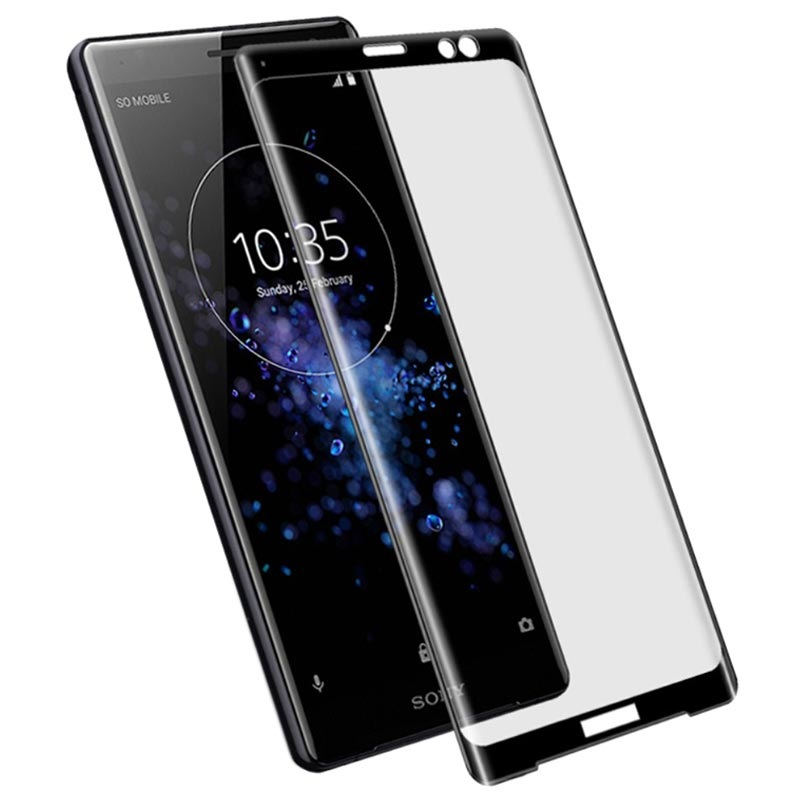 Imak Full Coverage Sony Xperia XZ3 Screen Protector - Black