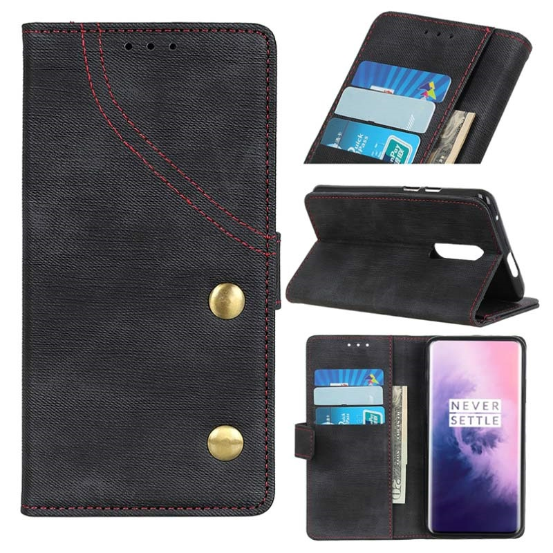 Jeans Series OnePlus 7 Pro Wallet Case - Black