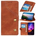 Jeans Series Samsung Galaxy S10 Wallet Case - Brown