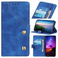 Jeans Series Sony Xperia 10 Plus Wallet Case - Blue