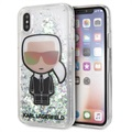 Karl Lagerfeld Ikonik Liquid Glitter iPhone X / iPhone XS Case - Transparent