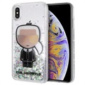 Karl Lagerfeld Ikonik Liquid Glitter iPhone XS Max Case - Transparent