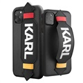 Karl Lagerfeld Strap iPhone 11 Pro Max Case - Black