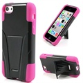 iPhone 5C Kickstand Combo Case - Black / Hot Pink