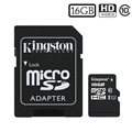 Kingston Canvas Select MicroSDHC Memory Card SDCS/16GB - 16GB