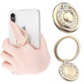 Kingxbar Swarovski 360° Rotation Smartphone Ring Holder - Gold