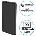 Ksix 10000mAh Quick Charge 3.0&USB-C PD Power Bank - 18W