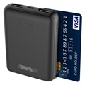 Ksix Mini Power Bank 10000mAh - 2xUSB - Black