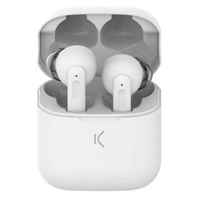 Ksix TWS Active Noise Cancelling Earphones - Bluetooth 5.0 - White